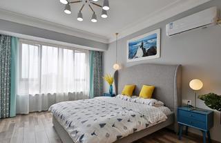 86㎡北欧风格卧室装修效果图