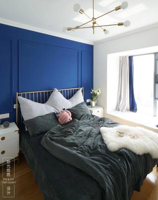 90㎡北欧风两居卧室装修效果图