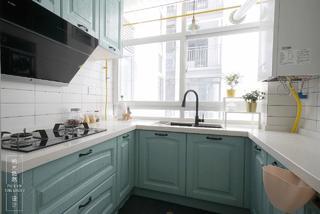 90㎡北欧风两居厨房装修效果图