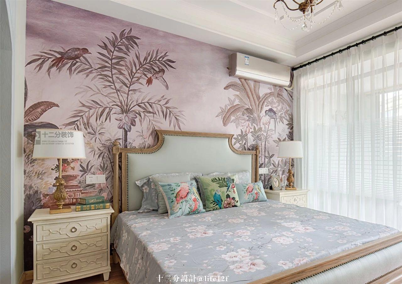 160㎡法式乡村风卧室装修效果图