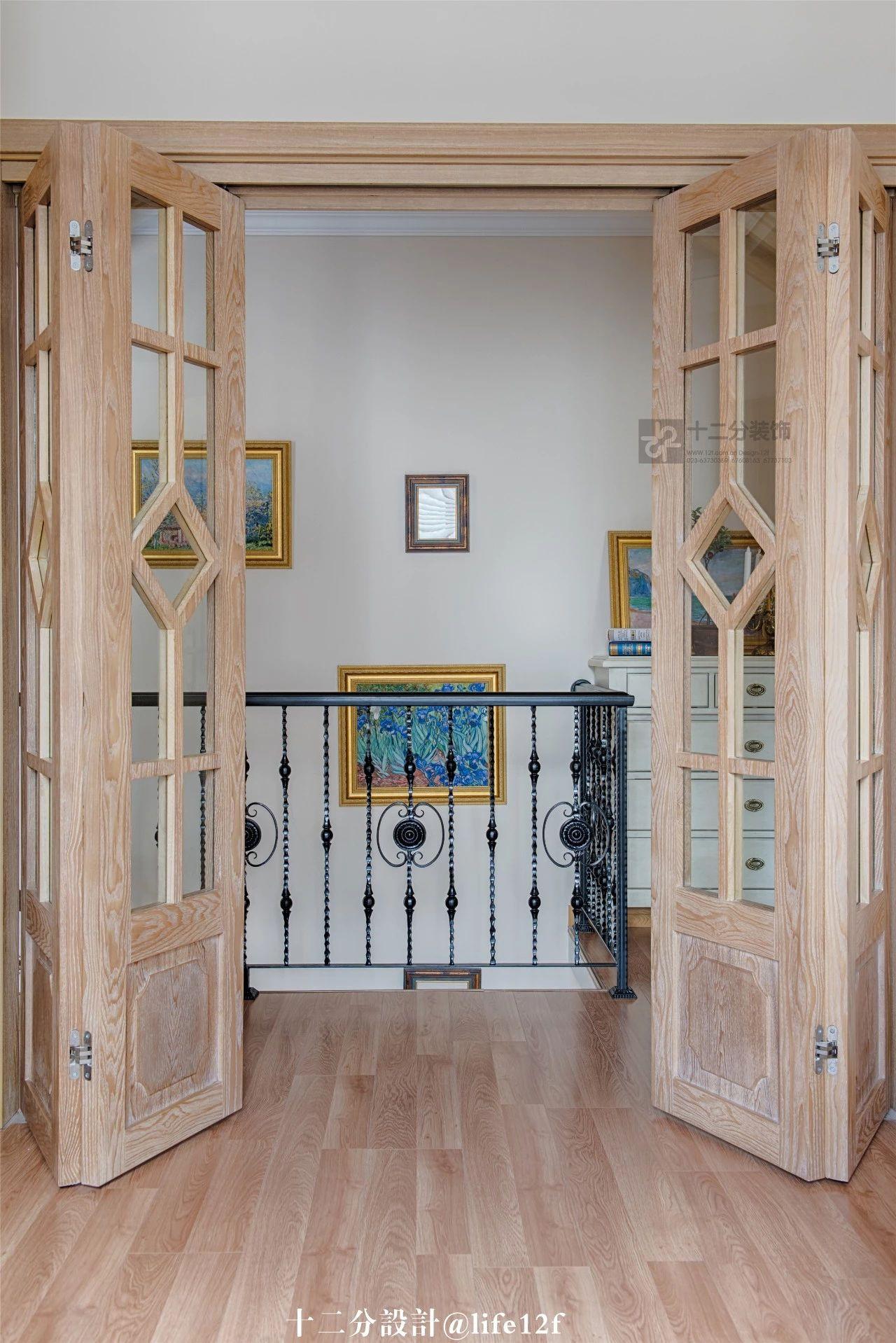 160㎡法式乡村风装修折叠门设计