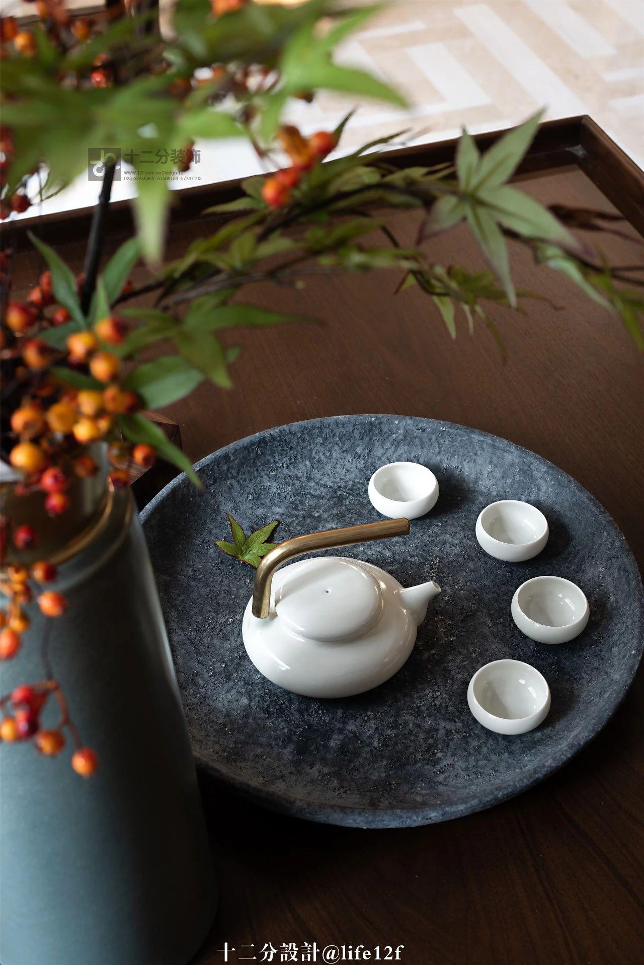 新中式风格别墅装修茶几小景
