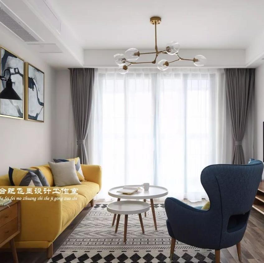 85平米两居室装修效果图