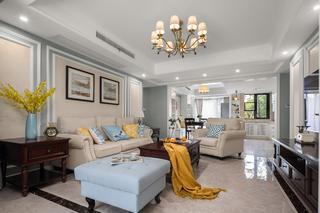 135㎡美式风格客厅装修效果图