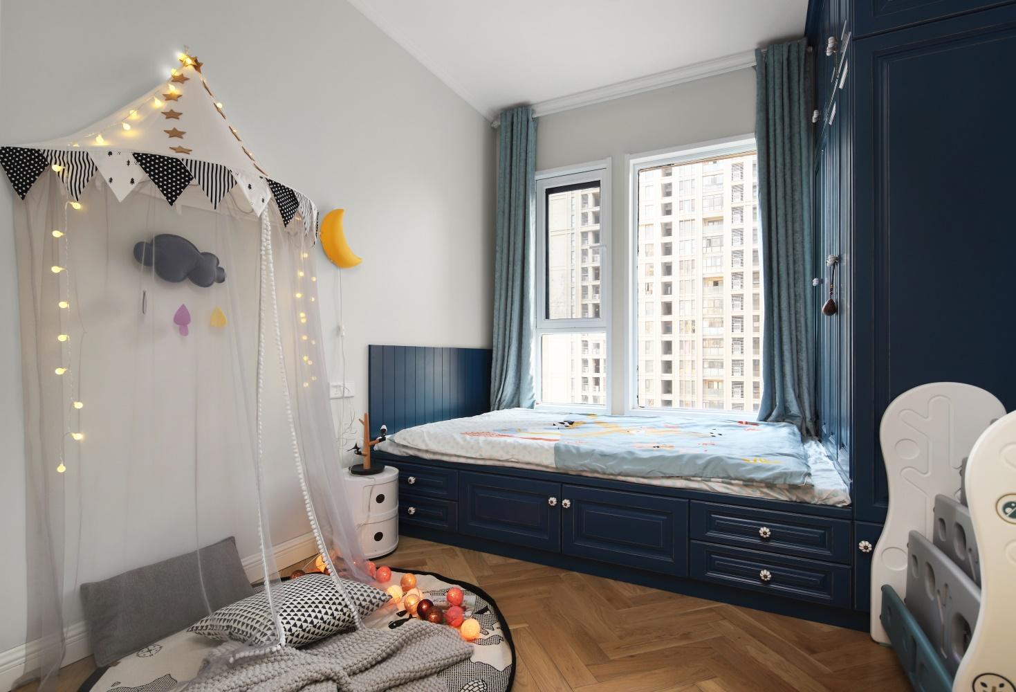 100㎡北欧两居榻榻米儿童房装修效果图