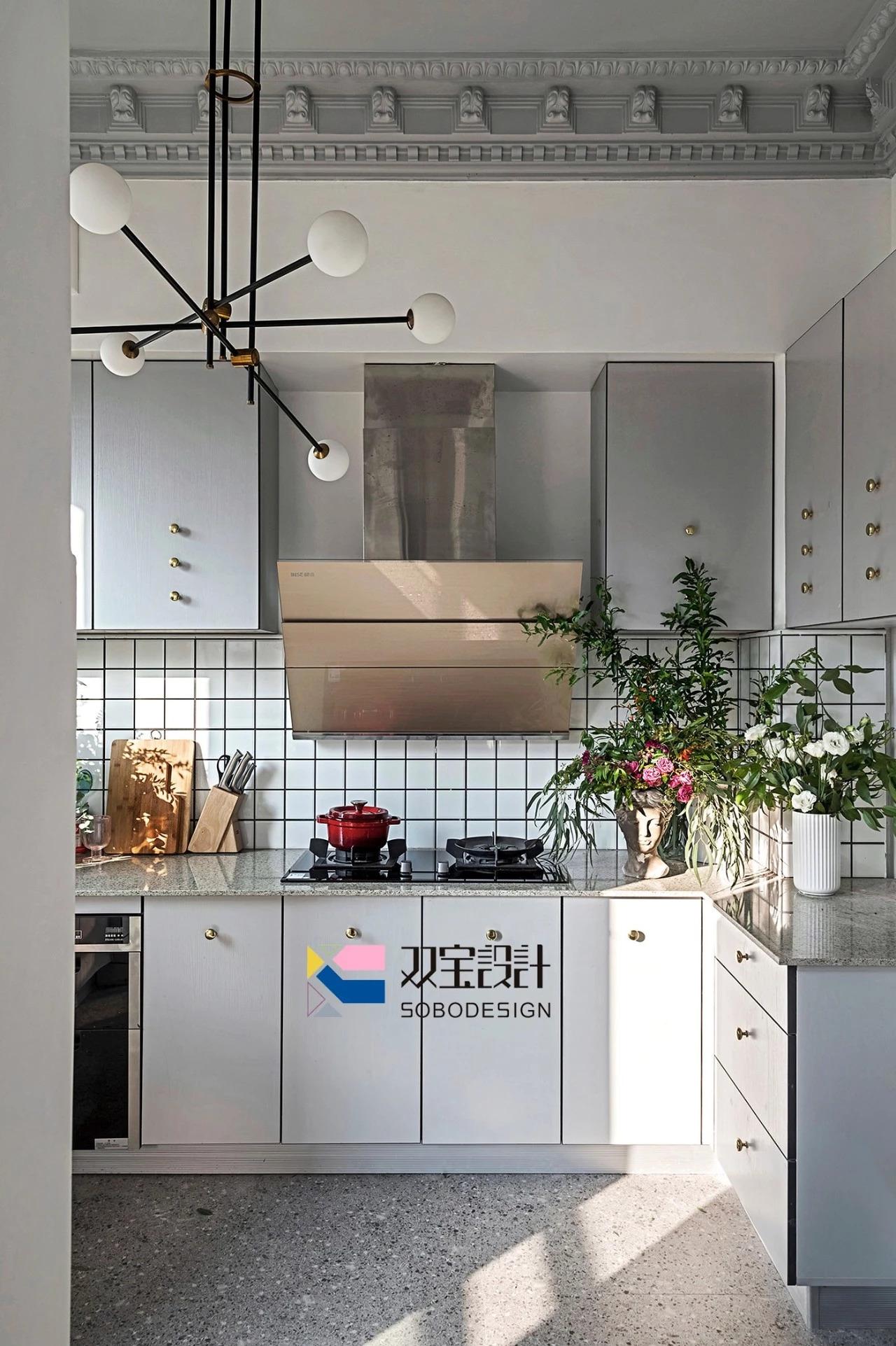 170㎡法式风格厨房装修效果图