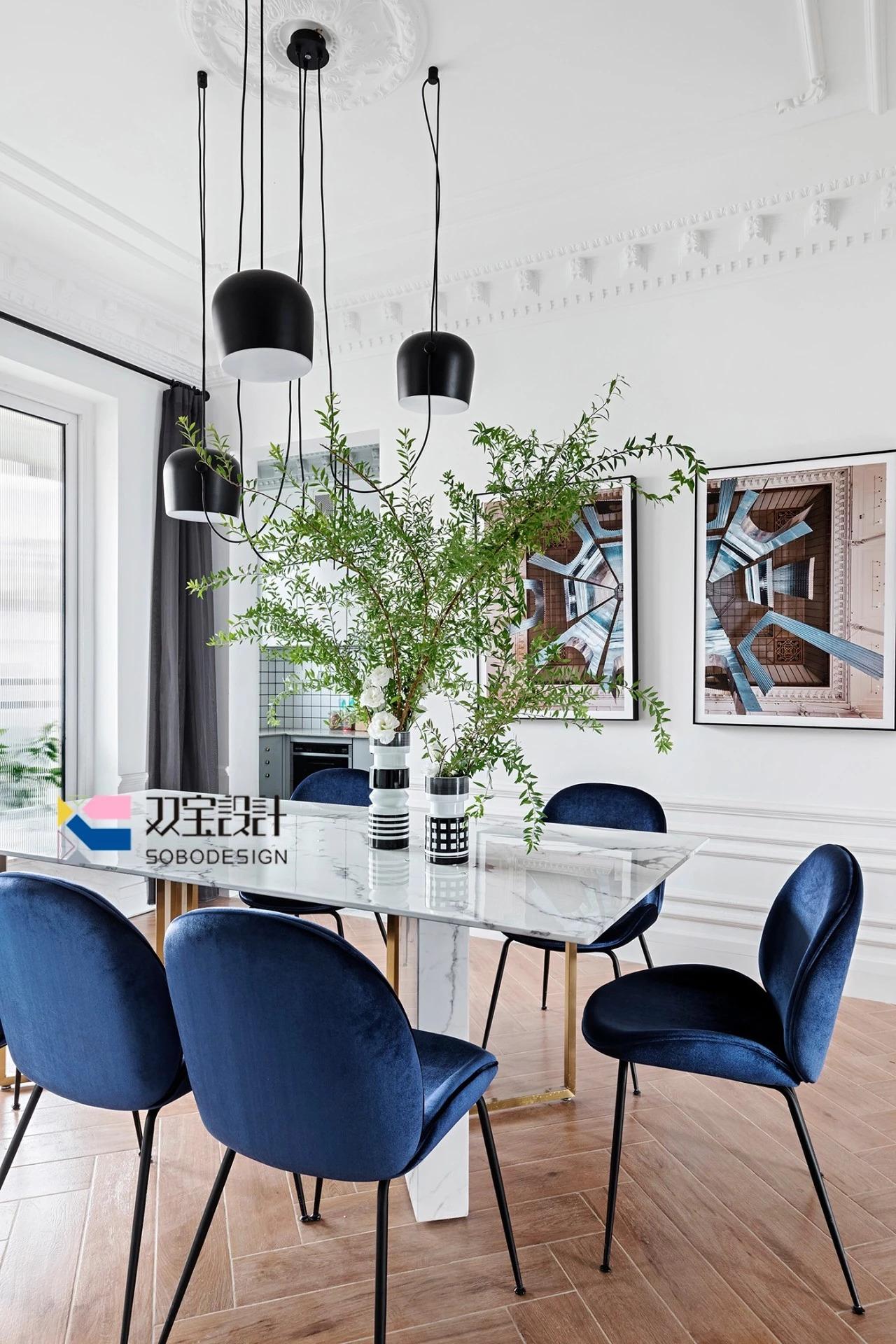 170㎡法式风格餐厅装修效果图