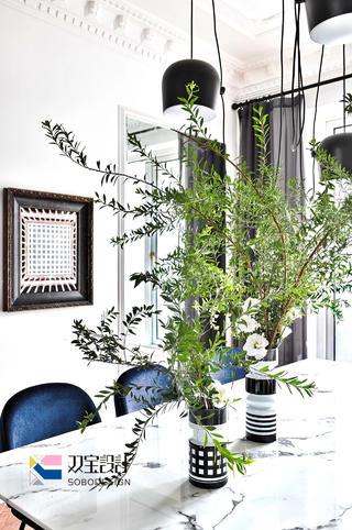 170㎡法式风格装修餐厅小景
