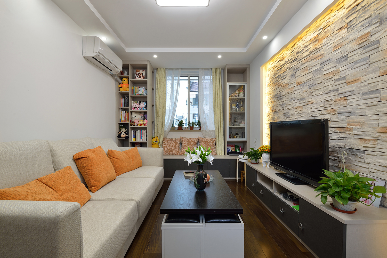 68平米一居室客厅装修效果图