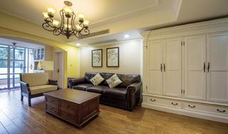 105㎡混搭风格沙发背景墙装修效果图