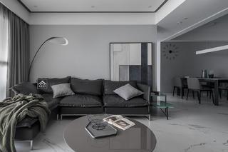 126㎡现代简约沙发背景墙装修效果图