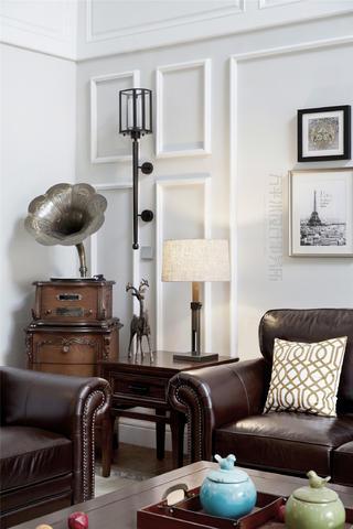 美式风别墅装修客厅一角