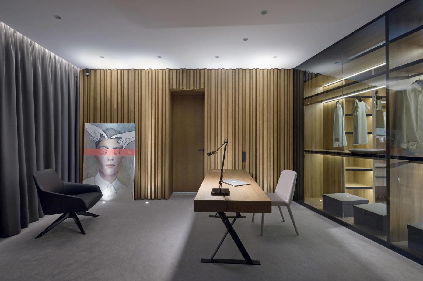 150㎡简约现代公寓书房装修效果图