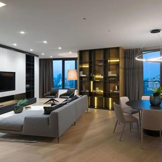 150㎡简约现代公寓装修效果图
