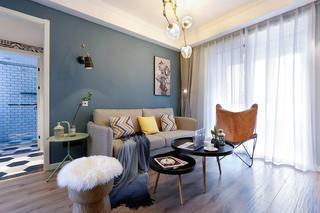 76㎡北欧风格沙发背景墙装修效果图