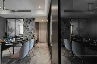 现代风四居装修餐厅过道设计