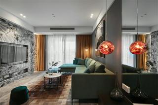 现代风四居客厅装修效果图