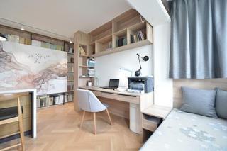 现代简约二居装修工作区设计