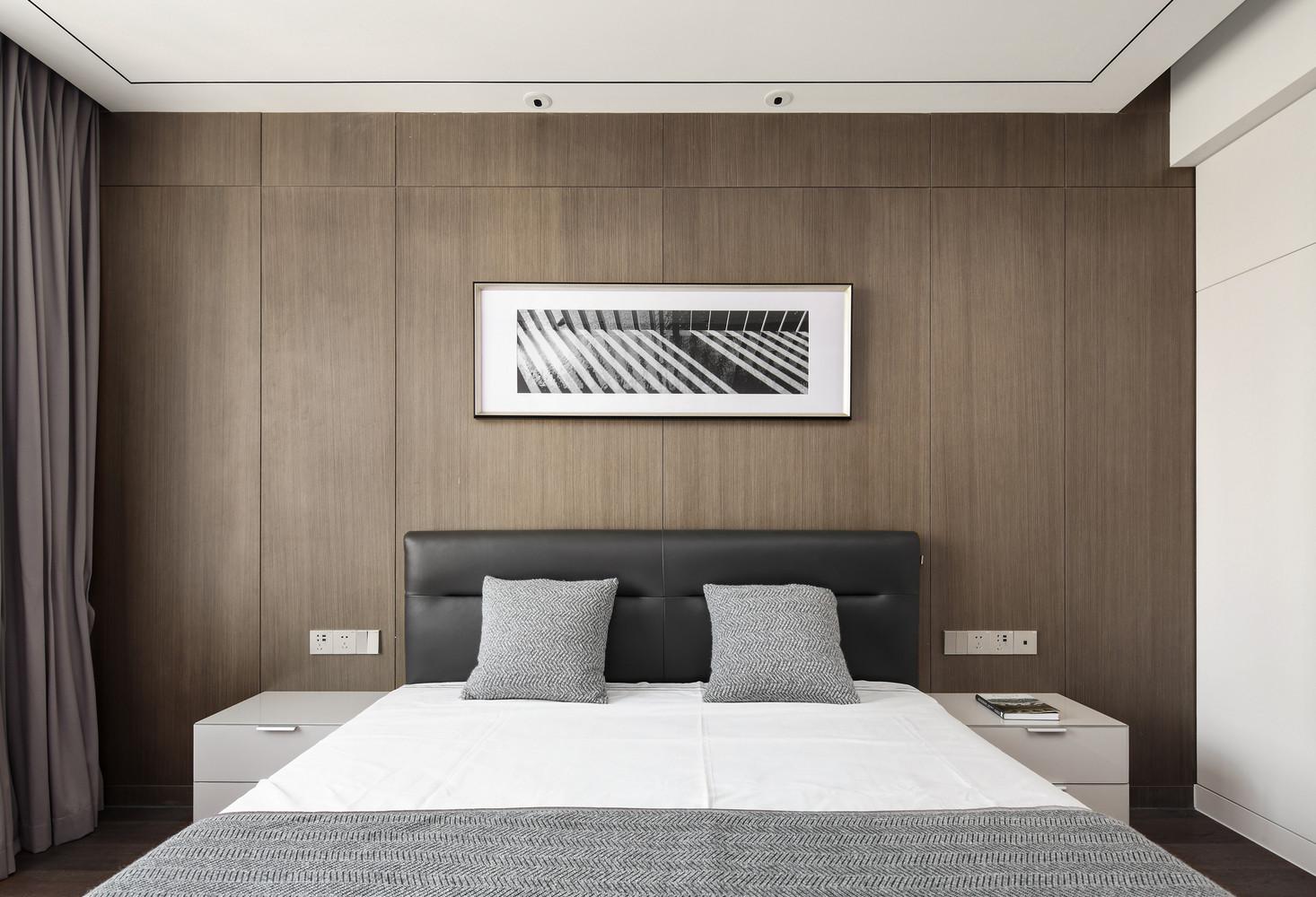 200㎡现代简约风卧室背景墙装修效果图