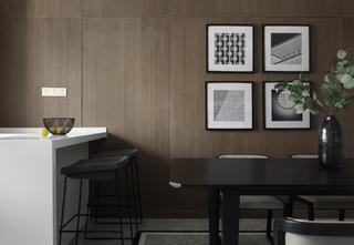 200㎡现代简约风装修餐厅吧台设计
