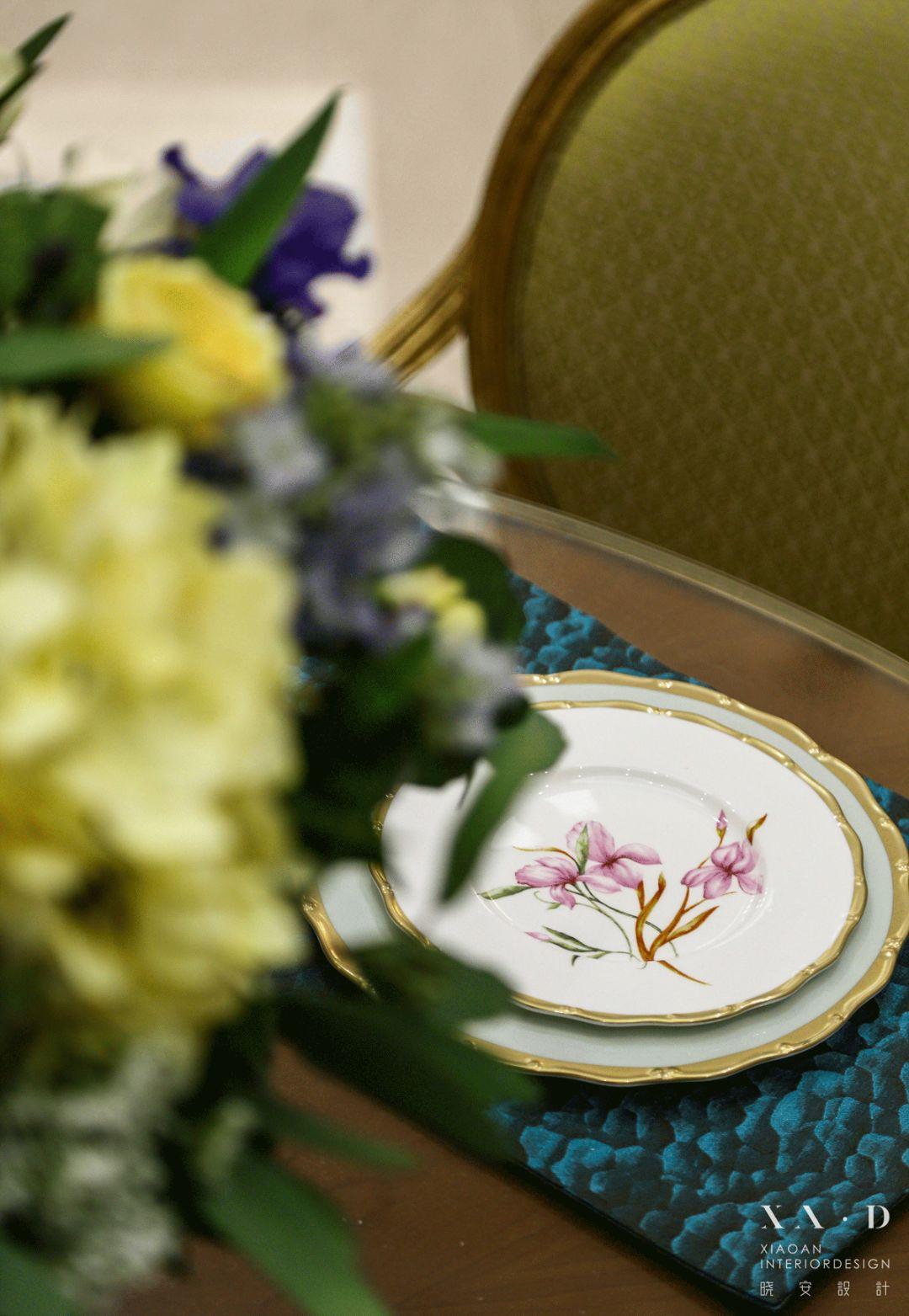 大户型美式风格装修餐具特写
