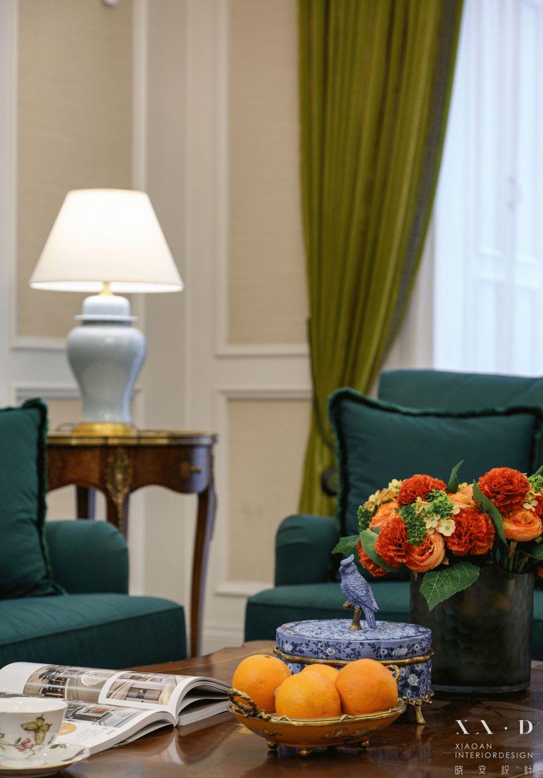 大户型美式风格装修客厅小景