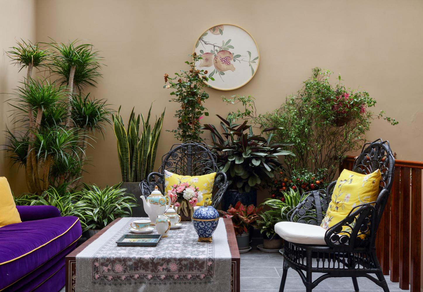 大户型美式风格装修休闲区设计
