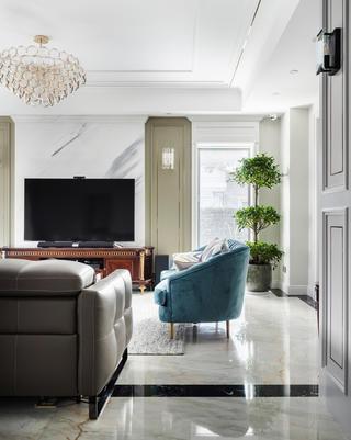 美式别墅客厅电视墙装修效果图