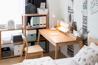北欧风格四居装修书桌设计