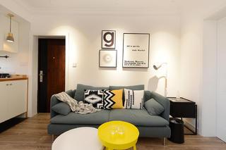 70㎡简约北欧风装修沙发设计