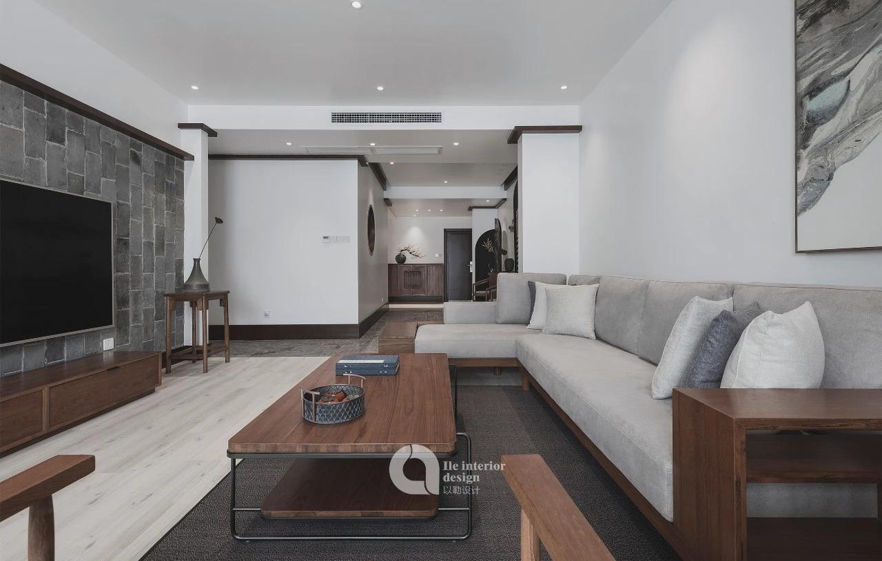 大户型现代中式客厅装修效果图