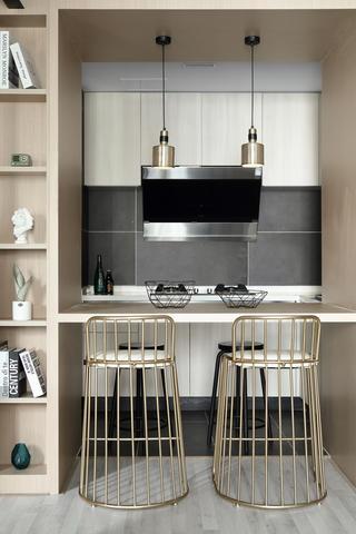 66平米小户型装修餐吧台设计