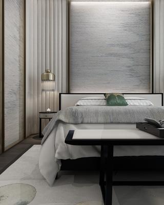 178平新中式风卧室装修效果图