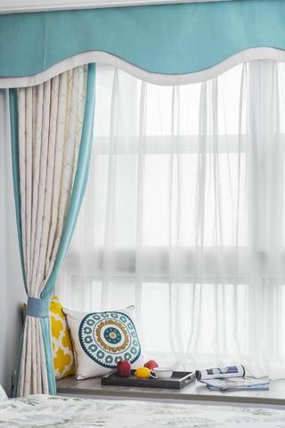 110平美式三居装修飘窗小景