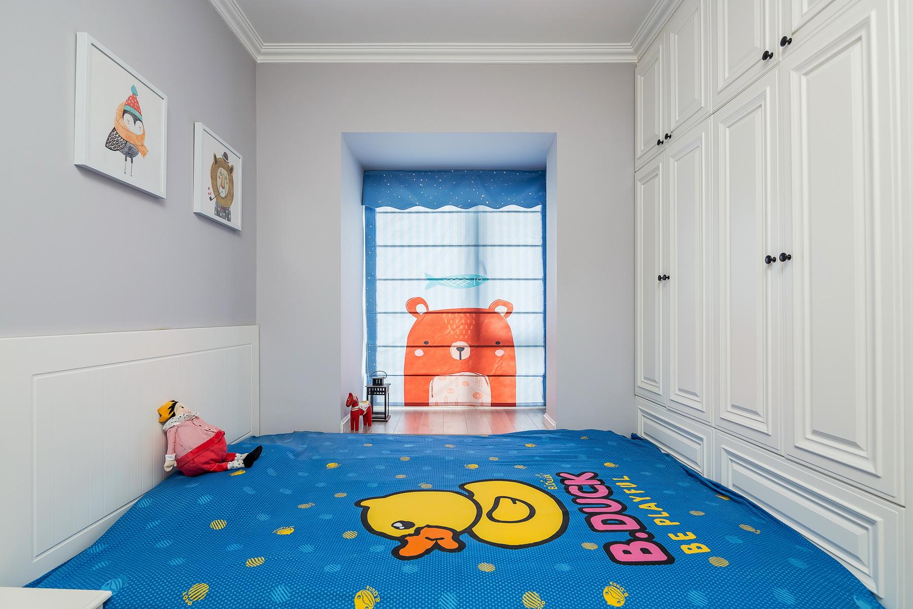 110平美式三居榻榻米儿童房装修效果图