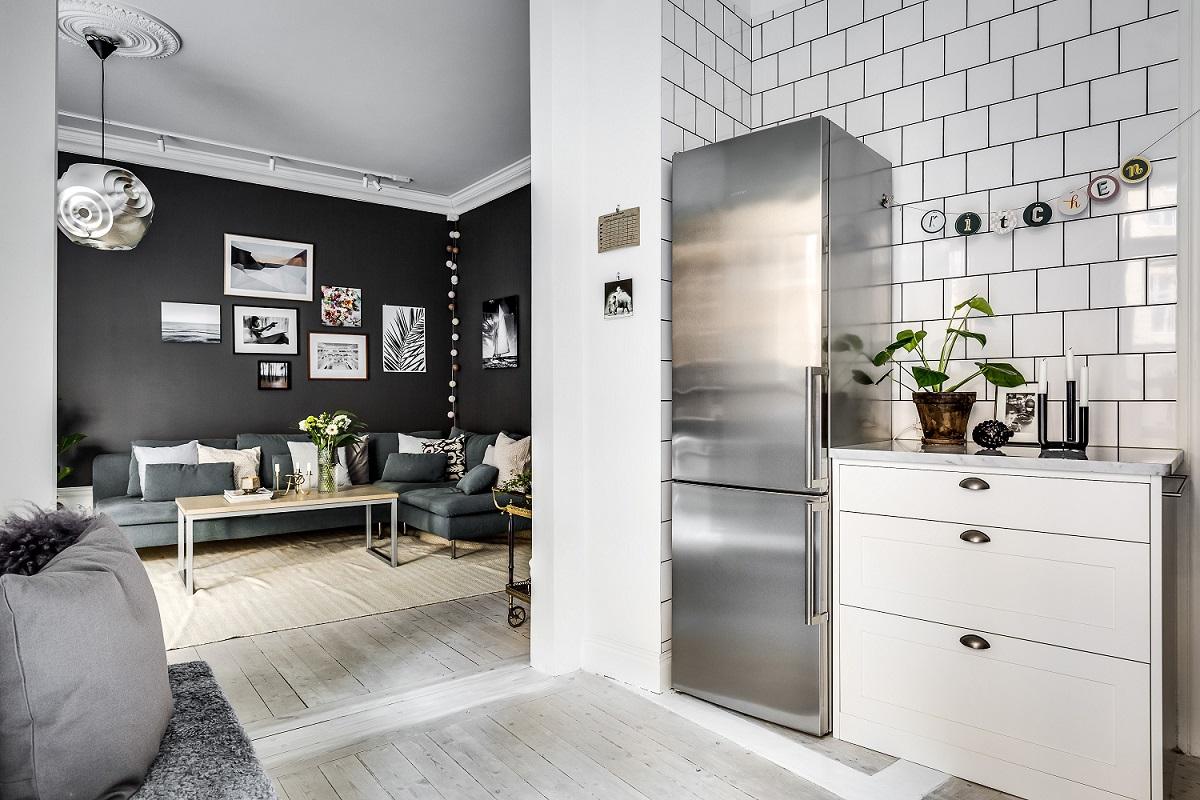 北欧两居室公寓沙发背景墙装修效果图