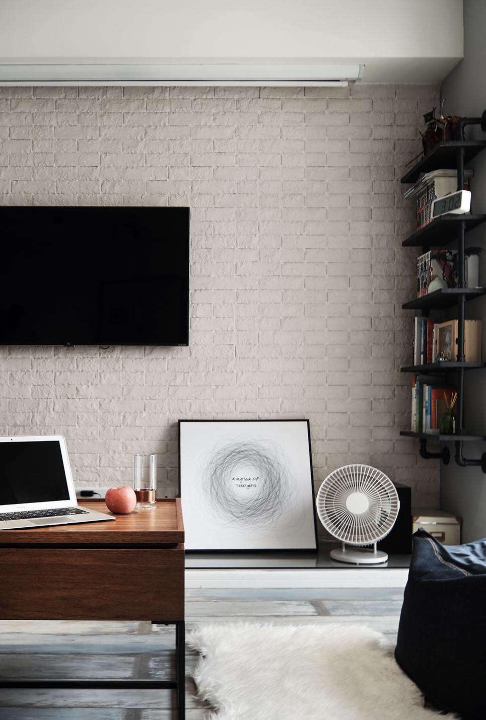 50㎡小户型电视背景墙装修效果图