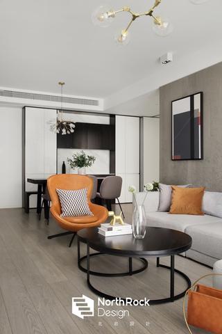 135㎡现代风装修客厅茶几设计