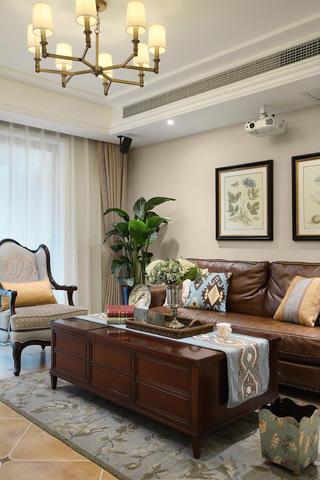 126㎡美式风格装修客厅茶几设计