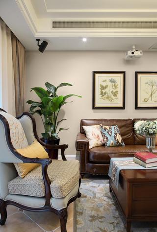126㎡美式风格装修客厅沙发设计