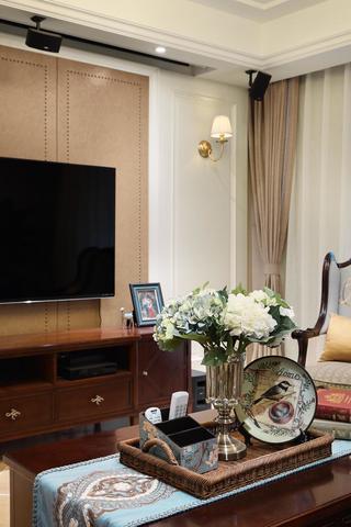 126㎡美式风格装修客厅小景