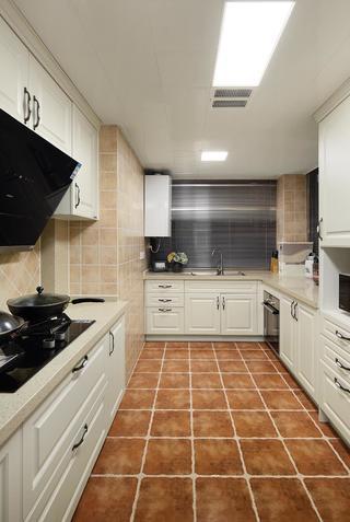 126㎡美式风格厨房装修效果图