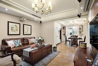 126㎡美式风格客厅装修效果图