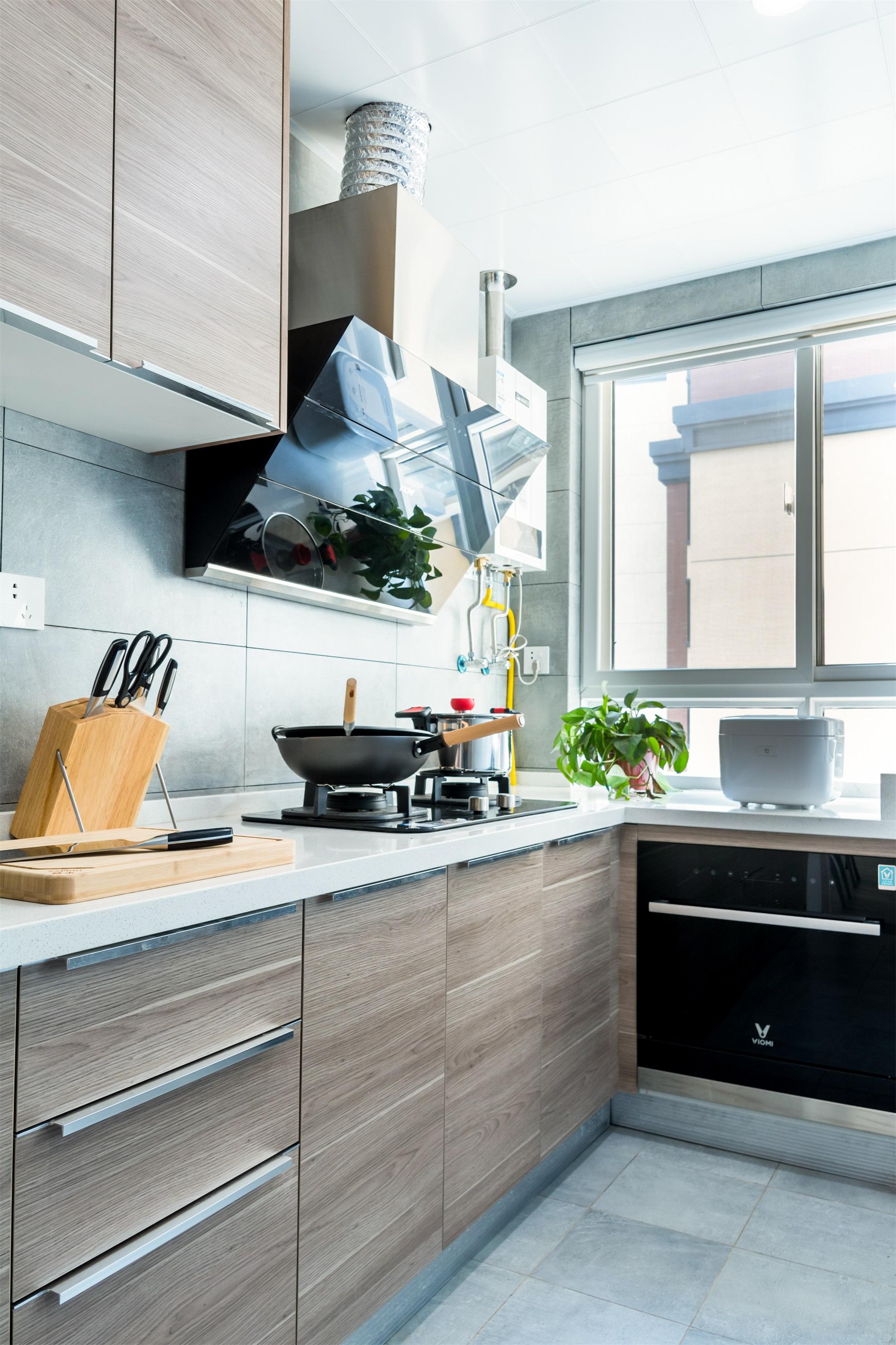 100平北欧风厨房装修效果图