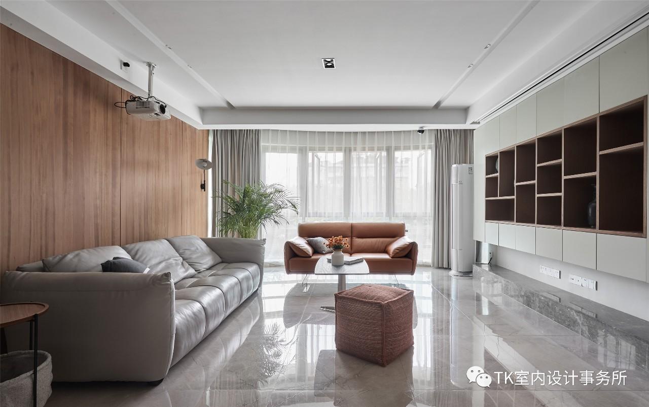 160平现代简约客厅装修效果图