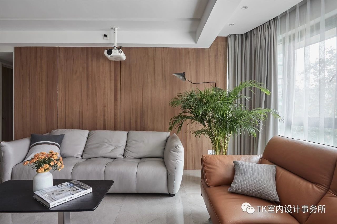 160平现代简约沙发背景墙装修效果图