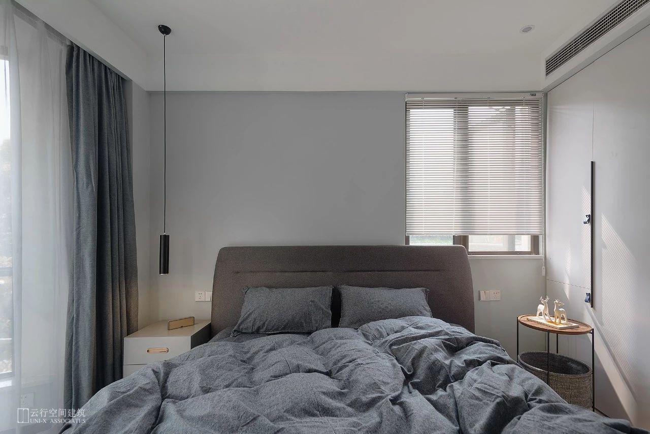135㎡现代简约卧室装修效果图