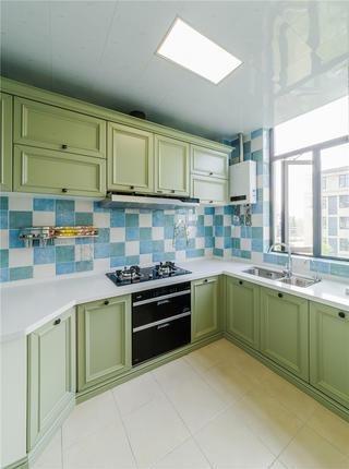 135㎡美式三居厨房装修效果图