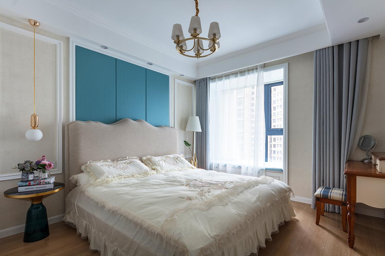 88平美式风格卧室装修效果图