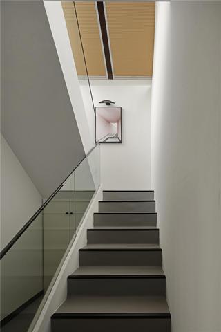 复式极简风楼梯装修效果图
